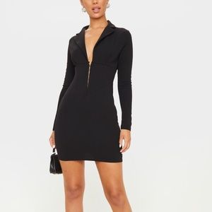 LONG SLEEVE CORSET DETAIL BLAZER DRESS